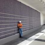 David Liu at Green Wall Plant Installation